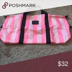 Victoria Secret Striped Weekender Bag Brand New Victoria's Secret Bags Travel Bags