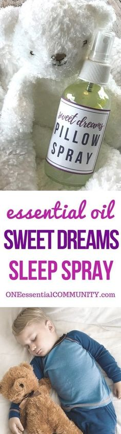 best essential oils for sleep + 12 favorite essential oil sleep spray recipes -- helps fall asleep & stay asleep #essentialoils #essentialoilrecipes #essentialoilsleep #sleepspray #pillowspray #essentialoilsleepspray