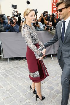 Olivia Palermo and Johannes Huebl attend the Christian Dior show as part of the Paris Fashion Week Womenswear Spring/Summer 2017 on September 30 2016...
