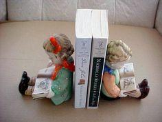 Vintage Bookends Boy Girl Reading 1940'S | eBay