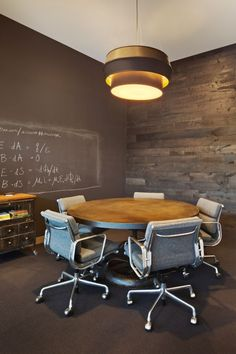 Dropbox's New San Francisco Office – A Playful Space Designed To Be Functional & Comfortable. Chalkboard wall!!