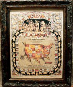 Camel Skelton Art Print On Parchment Paper Printing - Us parchment map
