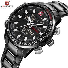 NAVIFORCE Quartz Wristwatch Mens Watches Top Brand Luxury Sport Military  Watch Men Clock Stainless Waterproof relogio d9d2137028