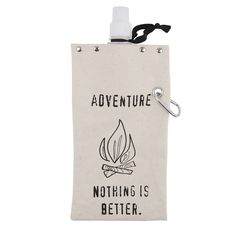 "Reward ""Adventure Nothing Is Better."" Canvas Flask, Ovrfl Oth"