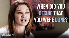 """""""When did you decide that you were done?"""" April to Jackson, Grey's Anatomy quotes Greys Anatomy Couples, Greys Anatomy Facts, Best Grey's Anatomy Quotes, Lexie Grey, Grey Quotes, Dark And Twisty, Cristina Yang, Cutest Couple Ever, Meredith Grey"""