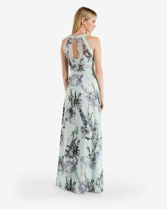 Torchlit Floral maxi dress - Pale Green | Dresses | Ted Baker ROW