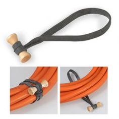 -Best way to organize cables,camping gear, sports equipment etc.-Made of high quality natural rubber and wood. -Sturdy and Reusable – Used by professionals!