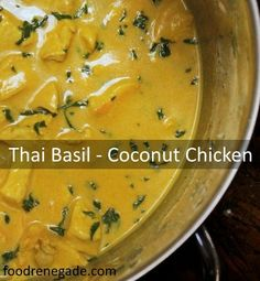So delicious and Simple Thai Basil & Coconut Chicken, via www.foodrenegade.com