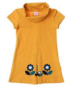 Baba Babywear gorgeous yellow dress with collar and little flowers. baba-babywear.en.emilea.be
