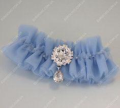Подвязка невесты Bridal star голубая