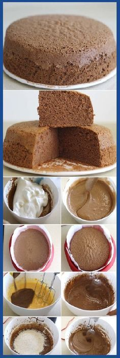 THE SECRET of the spongy chocolate sponge cake so that it stays that way If you like to tell us HELLO and give it to Like preheat the oven to I put my oven at 160 º because it is powerful, so in this case I lowered the … Gourmet Recipes, Mexican Food Recipes, Sweet Recipes, Cake Recipes, Dessert Recipes, Köstliche Desserts, Delicious Desserts, Yummy Food, Pan Dulce