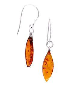 Honey Amber & Sterling Silver Earrings