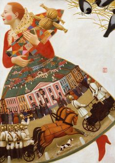 2004 RED-HAIRED GIRL Andrey Remnev (b1962 Yachroma, Russia)