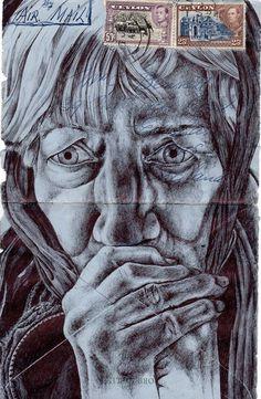 Mark Powell - envelope art