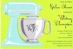 Kitchen Shower - Sweet Mixer - Aqua & Lime