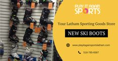 Play it Again Sports offers new ski boots at their sporting goods store. Check out our unbeatable selection and best quality goods at our sporting goods store with affordable prices that suit your needs!