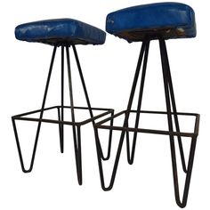 Frederick Weinberg Hairpin Stools | From a unique collection of antique and modern stools at http://www.1stdibs.com/furniture/seating/stools/