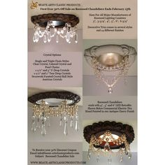 Recessed Light Trim new pearl style with 4 strands of pearls in white or cream, and 3 different crystal styles. Made in the USA by Beaux-Arts Classic Products. Installing Recessed Lighting, Interior Window Shutters, Decorative Trim, Ceiling Medallions, Cocktail Glass, Home Lighting, Modern Lighting, Coastal Decor, Lightbox