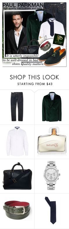 """PAUL PARKMAN - Get some great shoes!"" by vn1ta ❤ liked on Polyvore featuring Polo Ralph Lauren, Maison Kitsuné, River Island, Estée Lauder, Smythson, Michael Kors, BOSS Black and Polaroid"