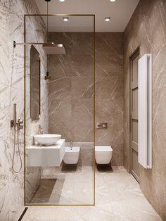 Modern Luxury Bathroom, Bathroom Design Luxury, Bathroom Layout, Modern Bathroom Design, Small Bathroom, Marble Bathrooms, White Bathroom, Small Luxury Bathrooms, Modern Marble Bathroom
