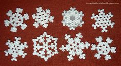 Snowflakes decorations perler beads by Creative Flourishes