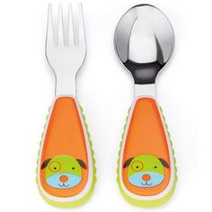Skip Hop Zootensils little kid fork & spoon Brightly colored and perfectly sized for little hands - fantastic first utensils. 6-18mo