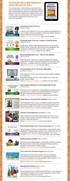 10 free webinars from Laura Candler! How many have you watched? Topics include reading workshop, math problem solving, DonorsChoose, math stations, literature circles, and more!
