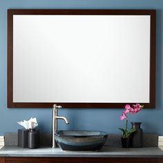 Everett Vanity Mirror - Wenge - Bathroom Mirrors - Bathroom  http://www.signaturehardware.com/bathroom/bathroom-mirrors/everett-vanity-mirror-wenge.html