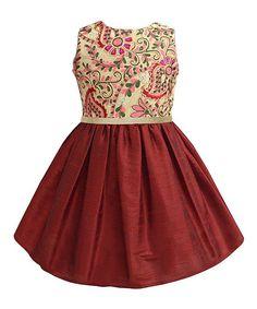 Scarlet Embroidered A-Line Dress - Infant, Toddler & Girls