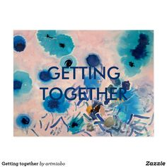 Getting together postcard Postcard Size, Postcard Art, Succulents Diy, Wedding Announcements, Paper Texture, Smudging, Create Your Own, Stationery, Invitations