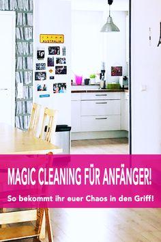 Endlich Ordnung: Magic Cleaning für Anfänger! - Mom´s Blog, der Familien- & Reiseblog! Marie Kondo Methode, Konmari, Mom Blogs, Homemaking, Tricks, Cleaning, Interior Design, Storage, Home Decor
