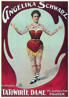 Tattooed Circus & Sideshow Folk - from blog Vintage Venus