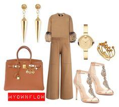 """MYOWNFLOW"" by myownflow on Polyvore featuring Badgley Mischka, Joseph, Hermès, Movado, Isabel Marant and Sydney Evan"