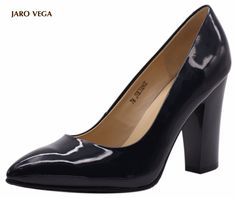 1a8ada41330 Jaro Vega Women s 2017 Sexy Chunky Block Thick High Heel Pointy Pointed Toe  Patent Leather Pumps