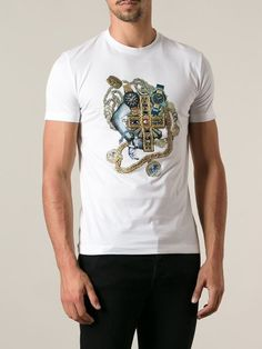 Versace Embroidered Slim Fit T-shirt - Elite - Farfetch.com