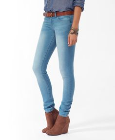 Sandblasted skinny jean w/ adorb shoes...cute and cas