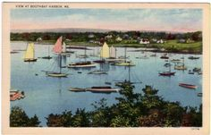 Vintage Maine Postcard Boothbay Harbor