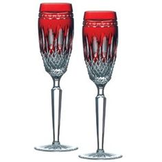 Waterford Clarendon Stemware Ruby Flute Pair -- Click image for more details.
