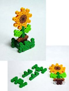 Sunflower perler beads by Mashiro