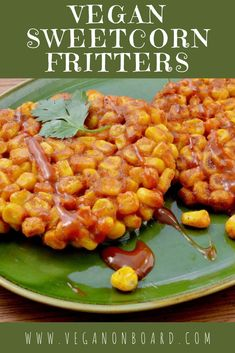 Our vegan sweetcorn fritters are perfect snack when you are hungry and need tasty food - fast! Quick Recipes, Vegan Recipes Easy, Quick Easy Meals, Vegan Side Dishes, Sweet Chilli, Tasty, Yummy Food, Savory Breakfast, Savory Snacks