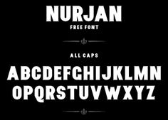 Nurjan free font by Twicolabs