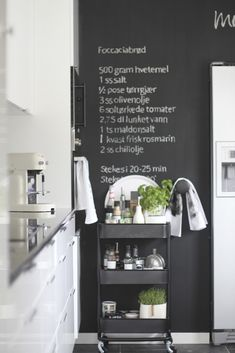 Are you trying to decide whether or not you want to buy a Raskog cart from Ikea? I love this kitchen organizing hack & chalkboard wall! There are so many excellent ways to organize using a Raskog cart & you can see 25 awesome ways to organize kitchen, organize bedroom or any room in your house! My favourite way to use a Raskog cart is to organize art supplies. #organize #organizing #homedecor #homedecorideas #ikea #ikeaideas #hhmuk