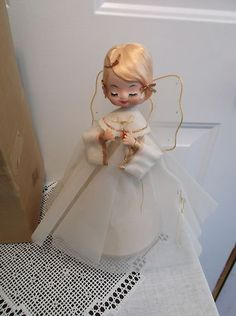 Vintage musical angel Silent Night Japan 1950's #60-1115 blonde Christmas !!!!!   eBay