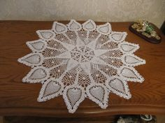 White Crochet doily lace crochet doilies by DoliaGalinaCrochet
