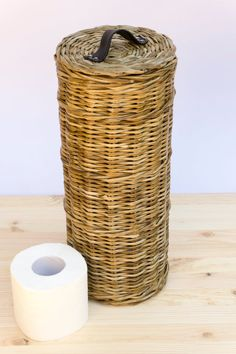 Paper storage Basket - Toilet paper storage basket lidded, Wicker tube tp storage, Toilet tissue box, Four roll storage, Toilet paper cover stand bin caddy rack. Toilet Paper Storage, Toilet Paper Roll, Craft Storage, Storage Baskets, Craft Organization, Bathroom Organization, Storage Ideas, Bathroom Ideas, Toilet Roll Holder Basket