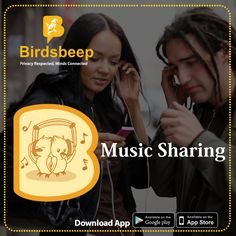 #Sharing #music files with users is as easy as pie on BirdsBeep #App. Download Now