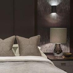 Detail of the bespoke headboard and bedside tables #headboard #bed #bedroom #luxuryinteriors #luxuryhomes #SophiePatersonInteriors
