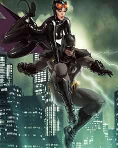Batman and Catwoman by Kaare Andrews. @dccomics #batman #catwoman #brucewayne #selinakyle #comics #dccomics #art