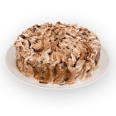 MESCLADA - Pão de ló branco e de chocolate, recheados com brigadeiro e baba de moça, cobertos com marshmallow e calda de chocolate.