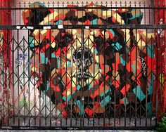 Bear mural, Clarion Alley, Mission.